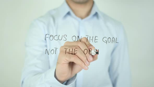 Thumbnail for Focus on the Goal Not the Obstacles, Writing On Screen
