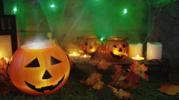 Thumbnail for Hintergrund für eine gruselige Halloween-Party
