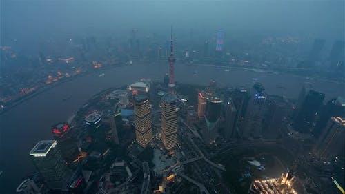 Shangai China Timelapse  Shanghai Dayto Nightfrom Shanghai Tower