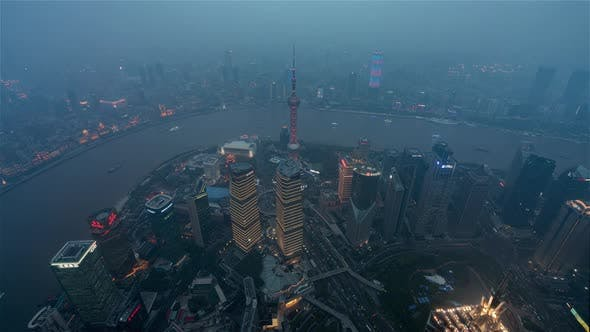 Thumbnail for Shangai China Timelapse  Shanghai Dayto Nightfrom Shanghai Tower