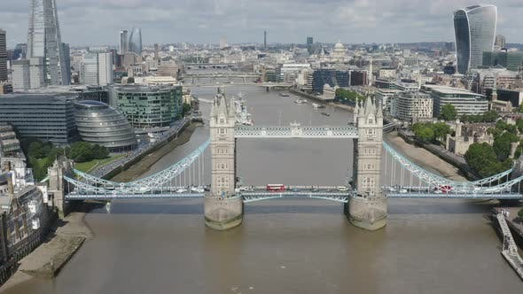 Thumbnail for London Tower Bridge. River Thames and Skyline of London City.