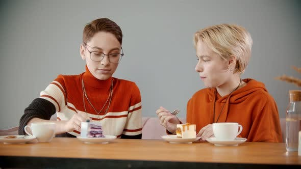 Thumbnail for Girls Are Trying Different Pieces of Cake