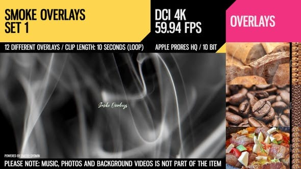 Thumbnail for Smoke Overlays (4K Set 1)