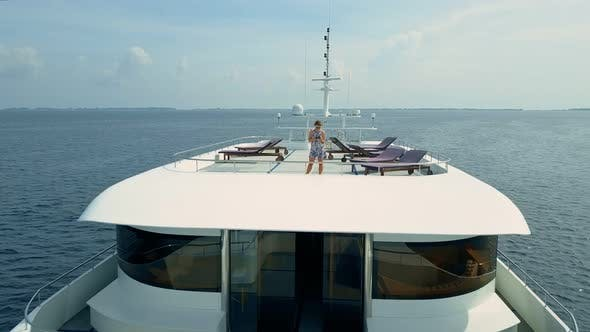 Thumbnail for Woman on Luxury Private Yacht in Maldives Ocean