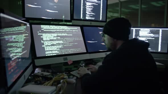 Genius Hacker Attacking Cyberspace