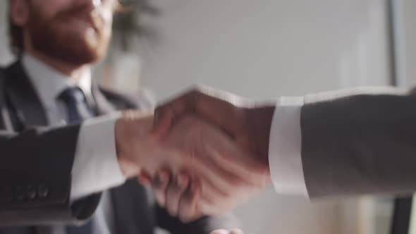 Thumbnail for Close Up of Handshake of Multiethnic Business Partners