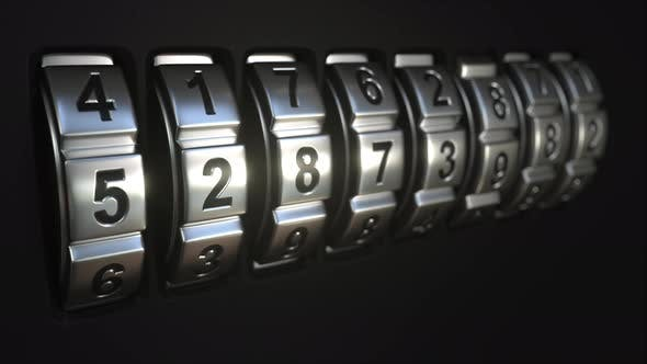 Thumbnail for Mechanichal Code Lock Rings Stop Rotation at Word PASSWORD