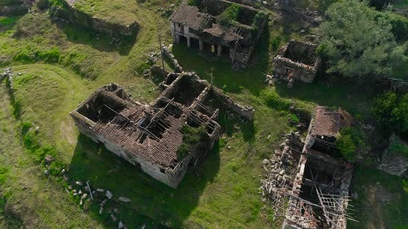 Thumbnail for Aerial View of an Old Abandoned House Standing in a Field