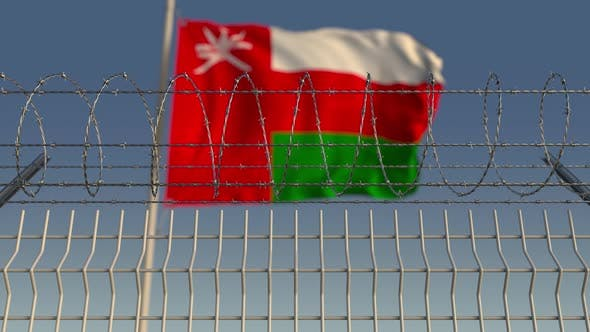 Thumbnail for Flag of Oman Behind Barbed Wire Fence