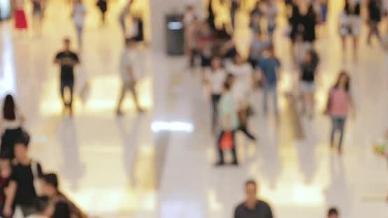 Blur of shopping mall