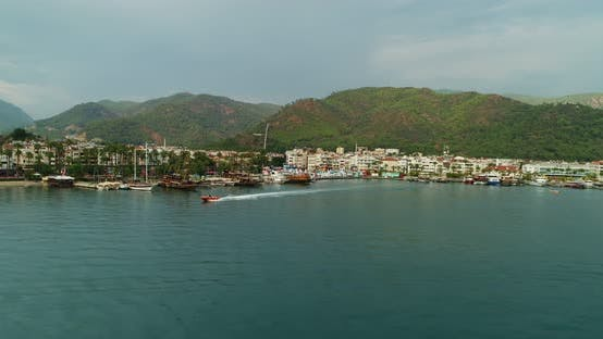 Thumbnail for Marmaris Speedboat And Marina Aerial View