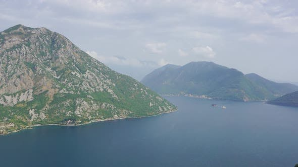 Kotor Bay and Mountains in Montenegro