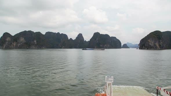 Ferry To Cat Ba Island, Ha Long Bay, Vietnam Timelapse
