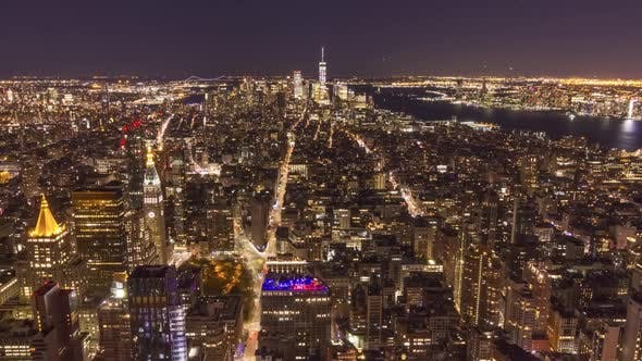 Cover Image for Skyline of Manhattan New York at Night