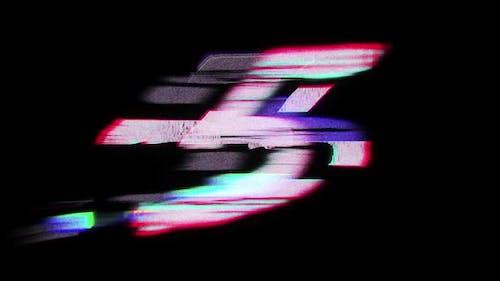 Cyberpunk Countdown 4K Alpha Channel