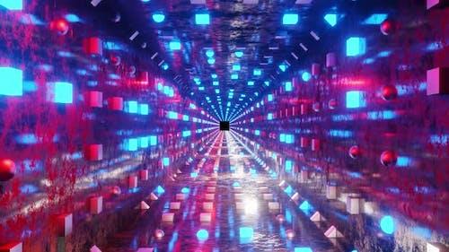 Scfi und Disco Neonlichter Hintergrund