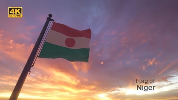 Thumbnail for Niger Flag on a Flagpole V3 - 4K