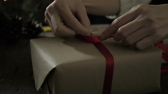 Thumbnail for Gift Wrapping With Ribbon Bow