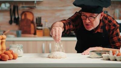 Making Dough Baking Cookies