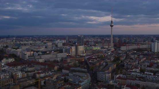 Thumbnail for Day to Night Aerial Hyperlapse of Berlin, Germany Alexanderplatz TV [4K]