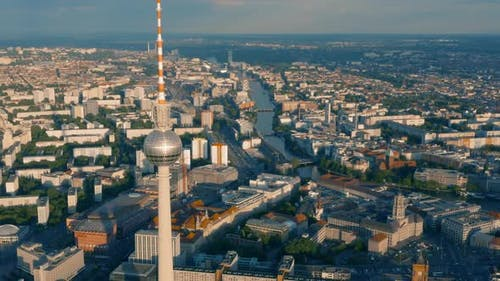 Cityscape of Berlin and Tv Tower