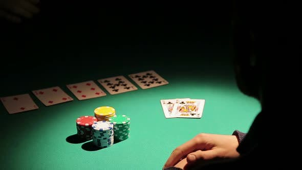 Thumbnail for Male Obsessed With Gambling Losing All Money in Poker Game, Man in Despair