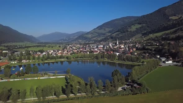 Aerial View of Uttendorf Town, Austria