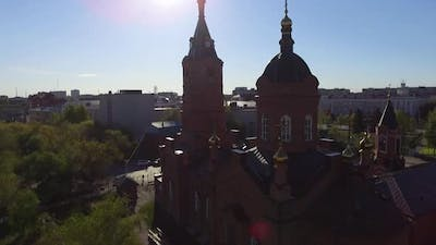 Beautiful Church Filmed With Drone