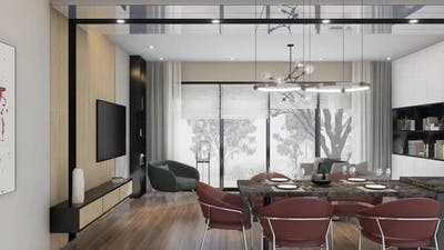 the interior in a modern style