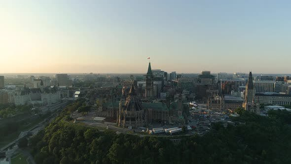 Thumbnail for Aerial of Ottawa, with the Parliament Buildings
