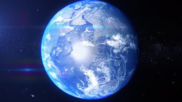 Thumbnail for Realistic Earth Zoom South Atlantic Ocean