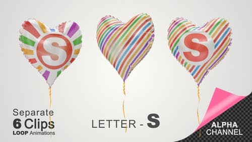 Balloons with Letter – S