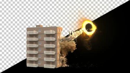 Building Sucked Into Portal