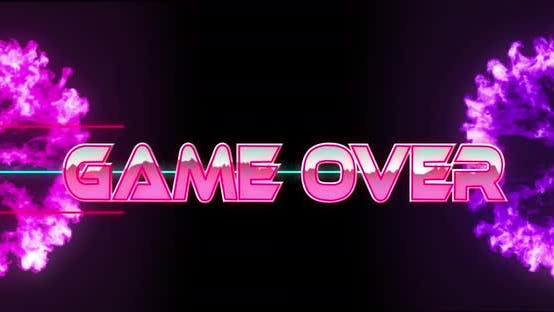 Game over game screen 4k