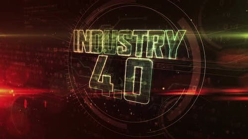 Industry 4.0 abstract concept