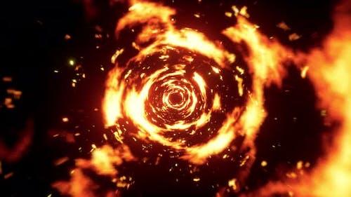 Abstract Fire Tornado 4K 01