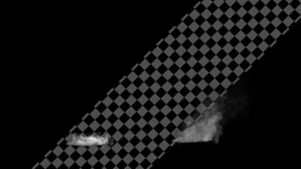 White Smoke on Ground 2 Clip 4K