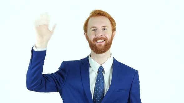 Thumbnail for Hello Gesture by Businessman, Waving Hand