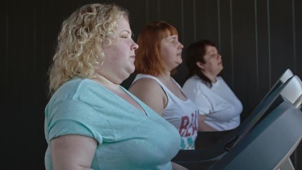 Thumbnail for Chubby Women Walking on a Treadmill