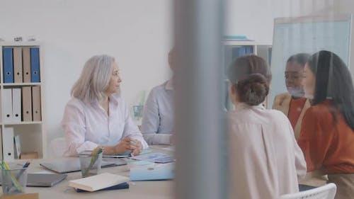 Businesswomen on Briefing