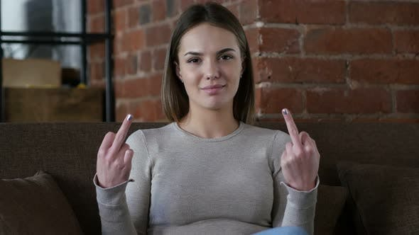 Thumbnail for Female Designer Showing Middle Finger in Anger