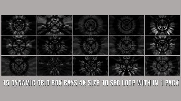 Thumbnail for Dynamic Grid Box Rays Elements Pack
