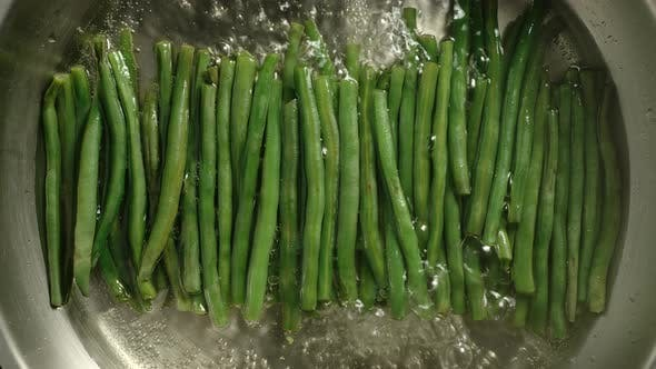 Thumbnail for Organic Green Beans Boiling In A Metal Pot
