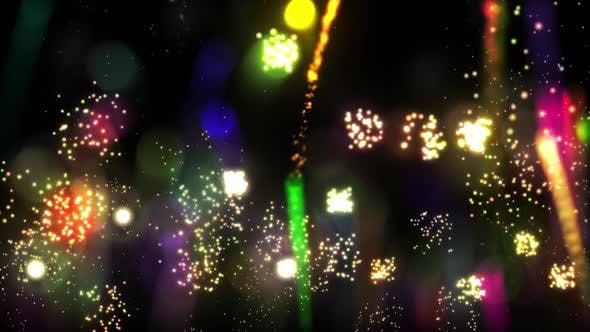 Thumbnail for Colorful Fireworks Background