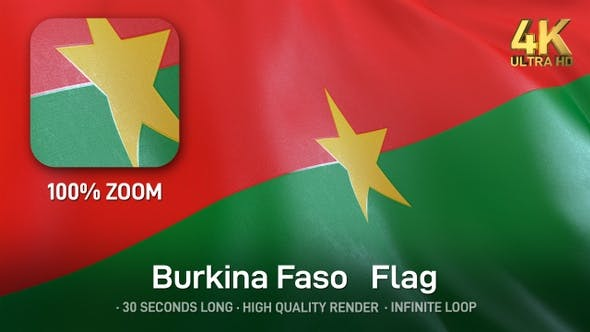 Thumbnail for Burkina Faso Flag - 4K