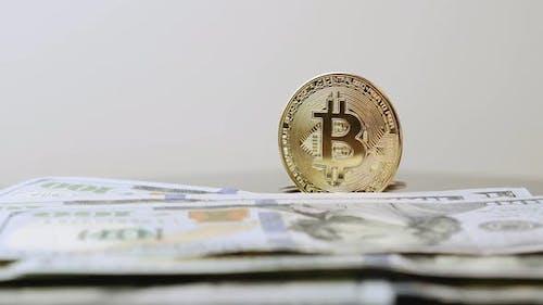 BTC. Bitcoin-Währung. Blockchain-Kryptowährungstechnologie