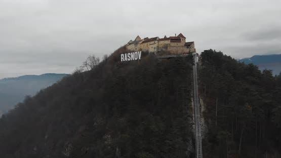 Rasnov Citadel by Drone - Romania