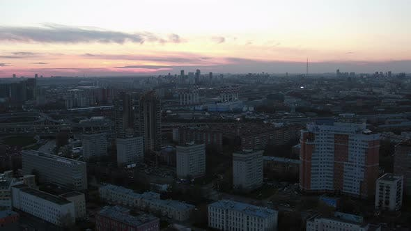 Thumbnail for Evening Cityscape of Moscow, Russia