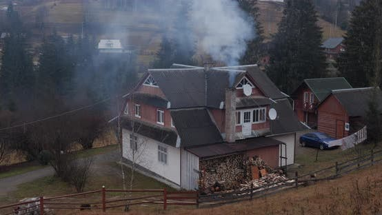 Carpathian House In The Mountains. Accommodation For Tourists