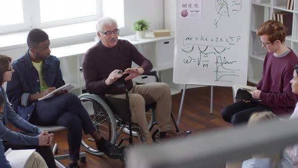 Thumbnail for Disabled Teacher Having Statistics Class